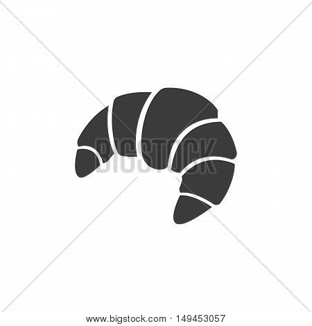Croissant icon. Croissant Vector isolated on white background. Flat vector illustration in black. EPS 10