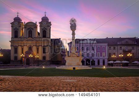 Timisoara city, Romania Union square or Unirii Square is the main square of the city of Timisoara.