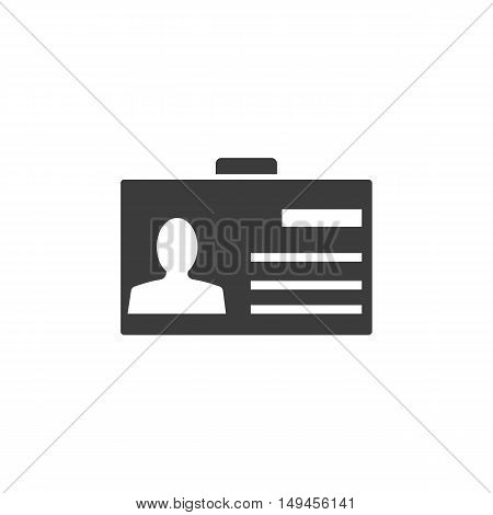 Pass icon. Pass Vector isolated on white background. Flat vector illustration in black. EPS 10