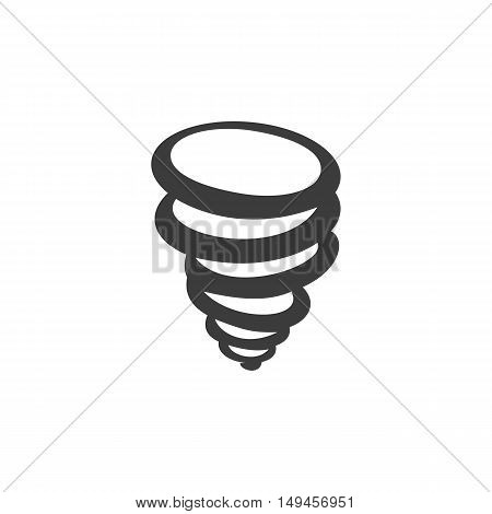 Tornado icon. Tornado Vector isolated on white background. Flat vector illustration in black. EPS 10