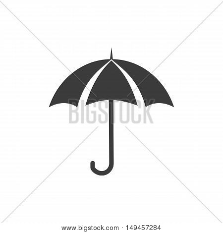 Umbrella icon. Umbrella Vector isolated on white background. Flat vector illustration in black. EPS 10