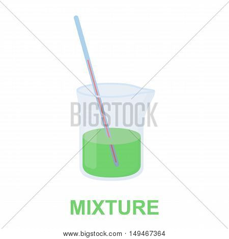 Mixture icon cartoon. Single medicine icon from the big medical, healthcare collection.