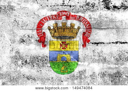 Flag Of Porto Alegre, Rio Grande Do Sul, Brazil, Painted On Dirty Wall
