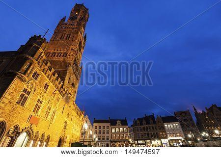 Belfry of Bruges. Bruges Flemish Region Belgium