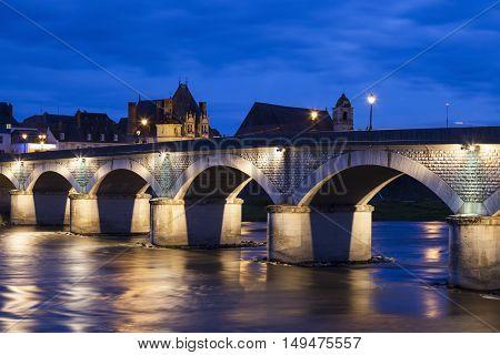 Amboise panorama. Amboise Pays de la Loire France