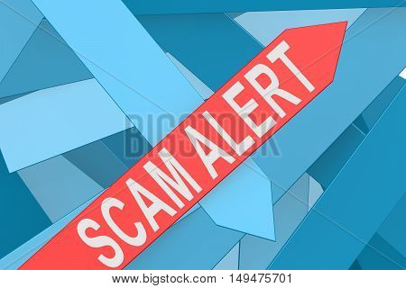 Scam Alert Arrow Pointing Upward