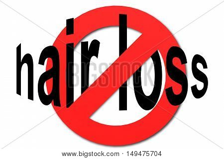 Stop Hair Loss Sign In Red