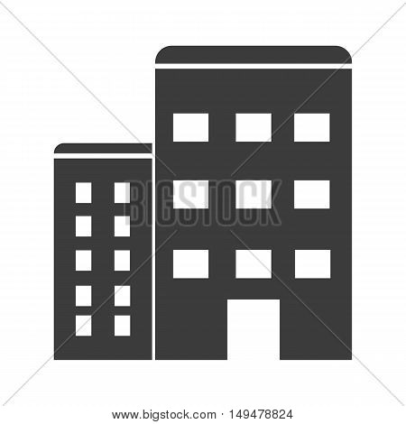 Apartment Icon. Apartment Vector Isolated On White Background. Flat Vector Illustration In Black. Ep