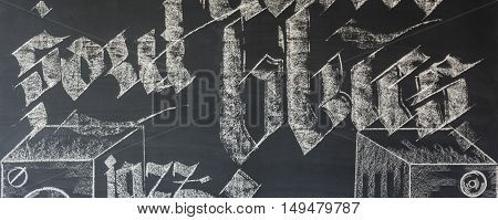Blackboard Wall In Room Interior