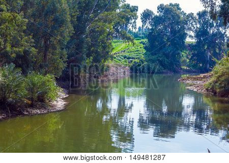 Shores Of Jordan River At Baptismal Site