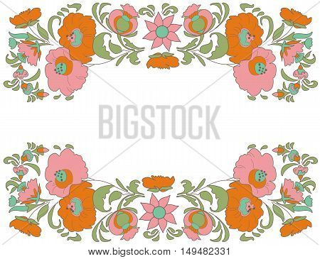 Fabulous Floral Pattern Ethnic flowers Floral folk art Folkart Flower pattern Vintage background Vector illustration Ethnic decoration flowers Folk ethnic theme Card exotic