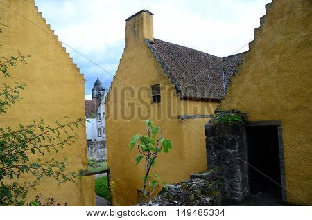 A view of the buildings within the medieval palace complex at Culross
