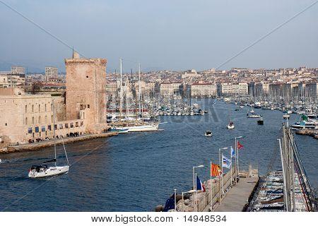 Marseille, the marina.