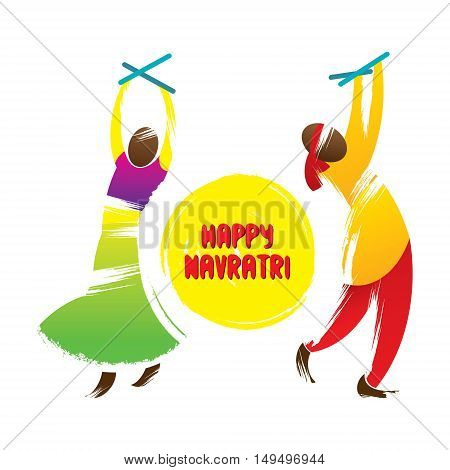 happy navrati festival celebration greeting design vector