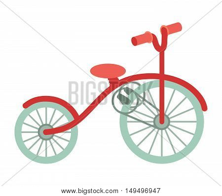 Bike cartoon illustration healthy activity. Transport for travel. Vector flat isolated on white background