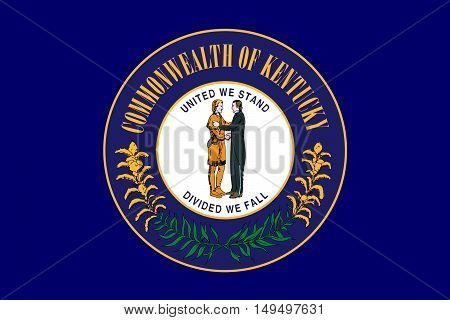Flag of Kentucky state in United States