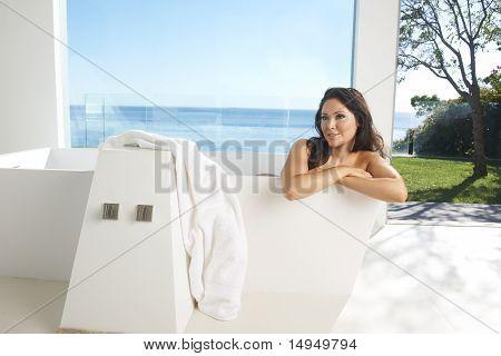 Asian Brunette Luxury Bath