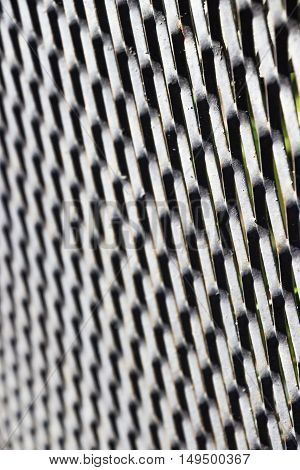 Metallic abstract grey grid background vertical focus