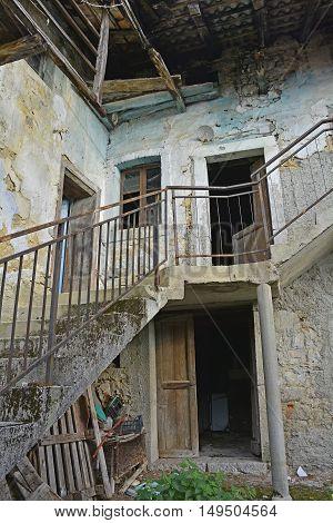 An old derelict building in the small Italian village of Oblizza Friuli Venezia Giulia.