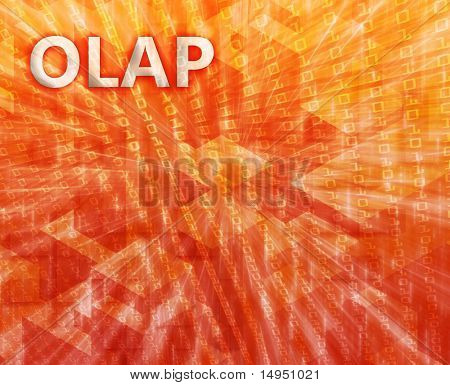 OLAP Business intellegence abstract, computer technology concept illustration