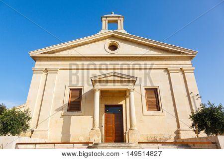 The Garrison Church in Upper Barrakka Gardens in Valletta, Malta.