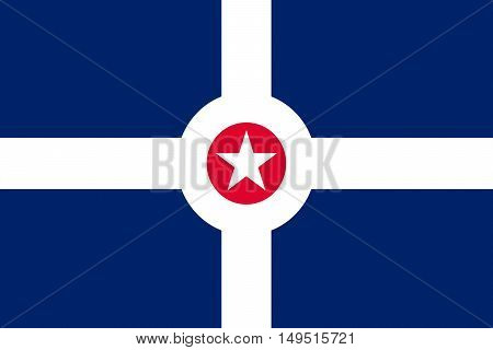 Flag of Indianapolis is the capital of Indiana state in United States