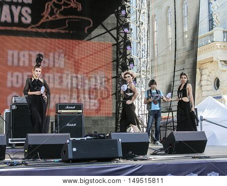 St. Petersburg, Russia - 12 August, Show designer suits,12 August, 2016. Beauty contest