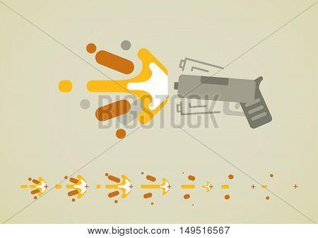 Gun shoot effect for creating video game