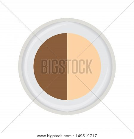 eye shadow duo brown isolated vector illustration