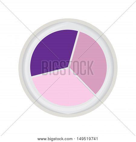 eye shadow trio violet isolated vector illustration