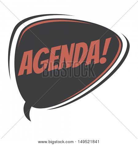 agenda retro speech balloon