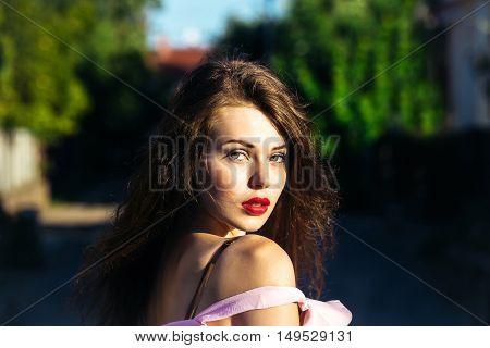 Pretty Sexy Girl Outdoor
