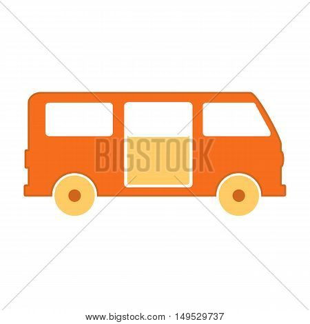 Minibus symbol icon on white background. Vector illustration.