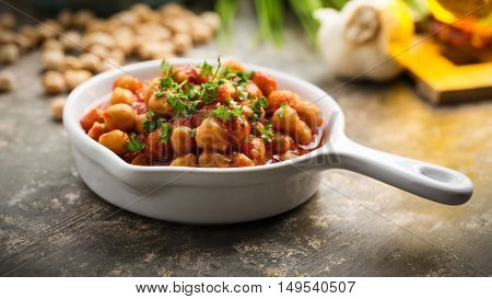 Chana Masala - curry dish with chickpeas