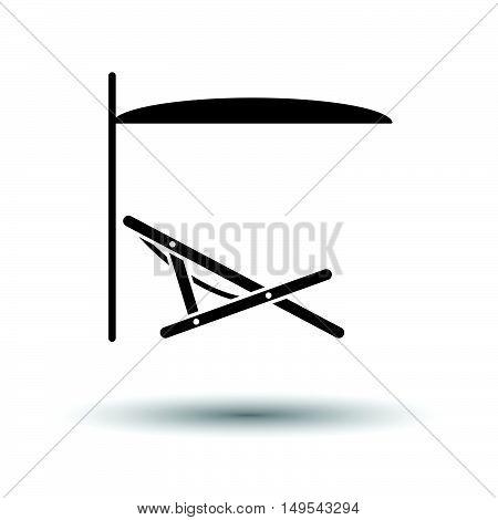 Sea Beach Recliner With Umbrella Icon