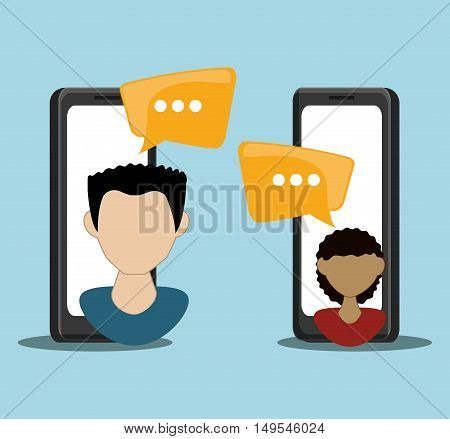 Social network chat persons message cellphone internet
