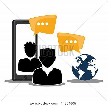 Social network person world message information global