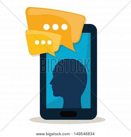 Social network cellphone person message information chat