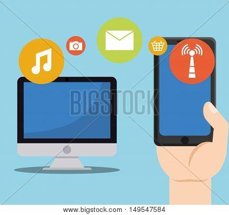 Social network computer cellphone internet menssage connection