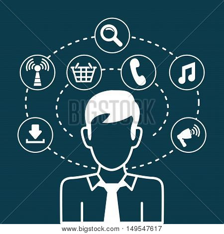 Social network man business search cellphone download