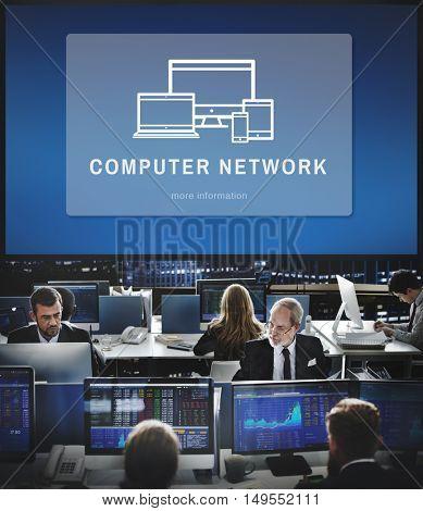 Computer Network Digital Design Innovation Concept