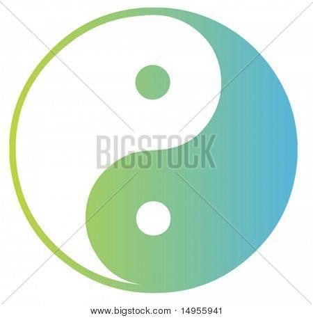 Representación oriental de símbolo de yang de Yin de la dualidad