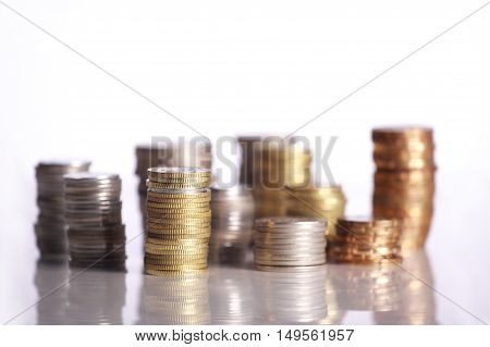 Malaysia Silver Coins isolated on white background