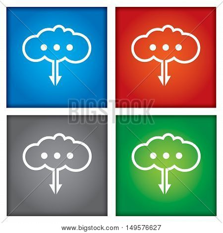 Cloud technology concept. Illustration with abstract digital background