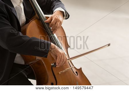 Professional Cellist Performing