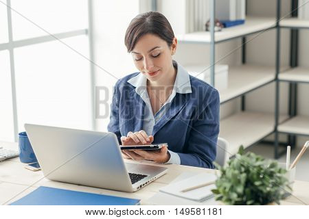 Professional Businesswoman And New Technologies