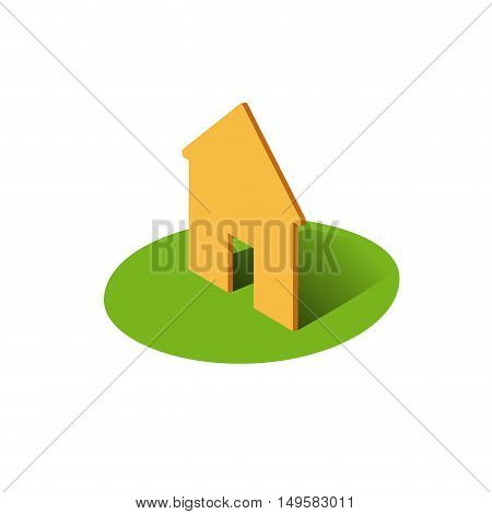 Vector sign Housing illustration, isolated in white