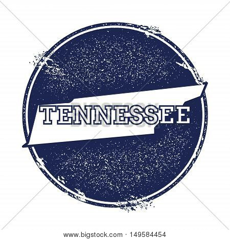 Tennessee Vector Map. Grunge Rubber Stamp With The Name And Map Of Tennessee, Vector Illustration. C