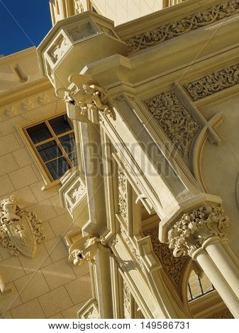 Lednice Czech Republic - September 29 2011: Decoration at Lednice Chateau Exterior in South Moravia