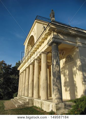 Lednice - Valtice Czech Republic - September 29 2011: Temple of Apollo in Lednice Valtice complex South Moravia
